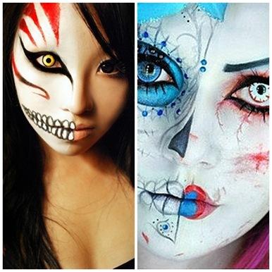 История праздника Хэллоуина. Макияж и раскраска для Хэллоуина подборка фото