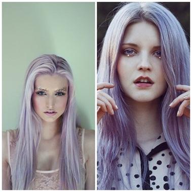 фиолетовый оттенок волос