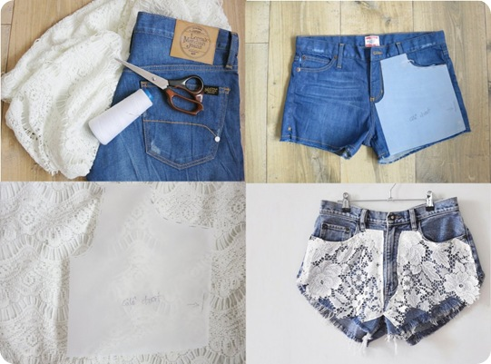 Джинсовые шорты из джинс своими руками фото