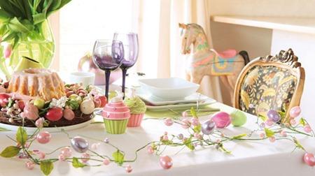 Розовый. Сервировка стола