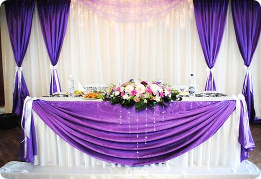 Свадебное украшение зала.