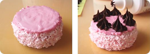 украшение торта сливками