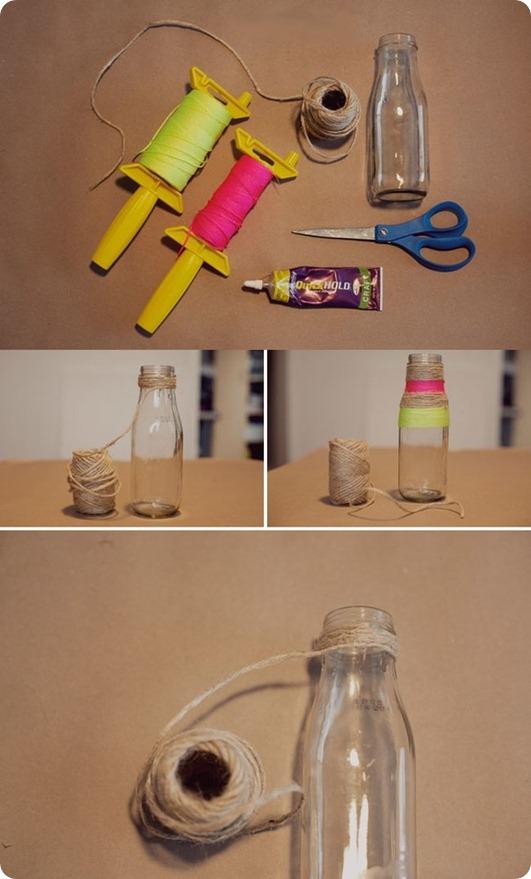 как из бутылки сделать вазу