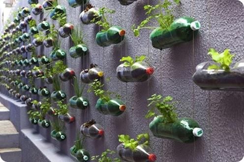 кашпо из пластиковых бутылок