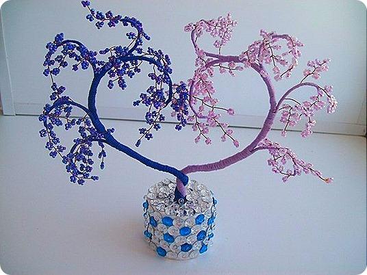 дерево-сердце из бисера