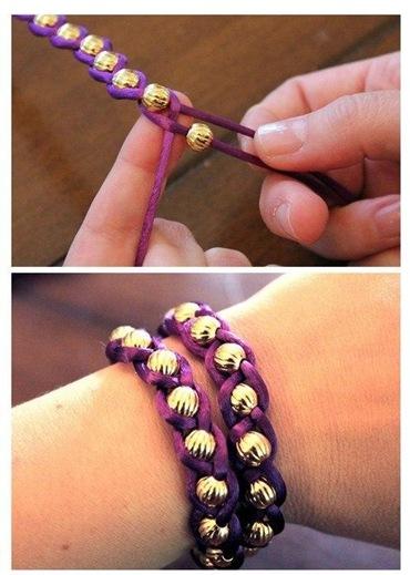 Как сделать браслет с бусинами своими руками